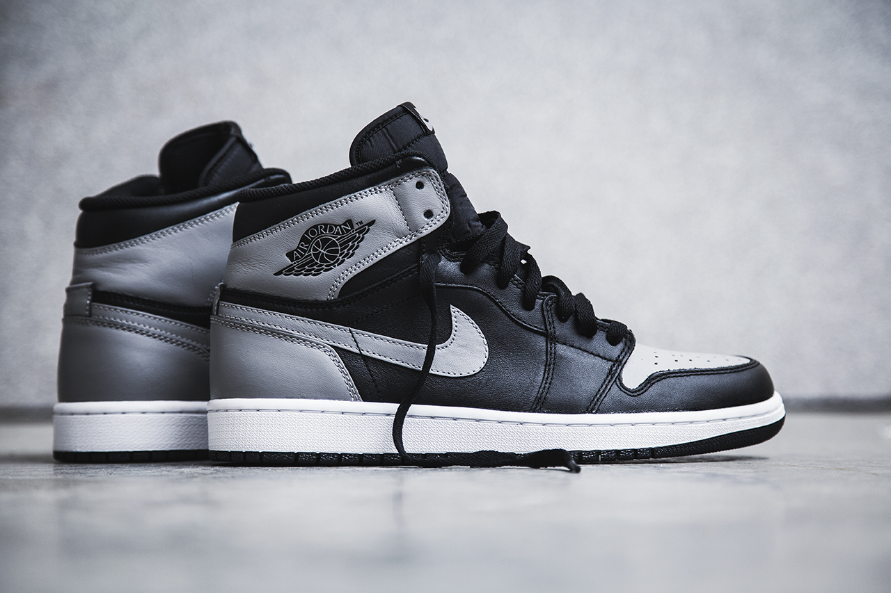 air jordan 1 retro high og black soft grey shadow 2. Black Bedroom Furniture Sets. Home Design Ideas