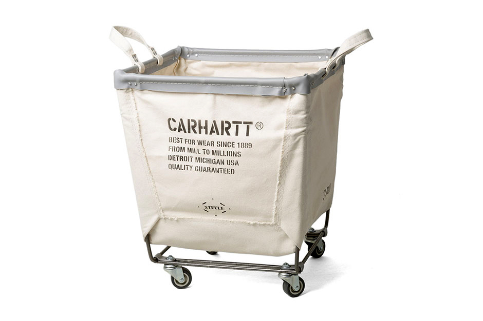 Carhartt x steele canvas laundry cart tuhinternational Home styles natural designer utility cart